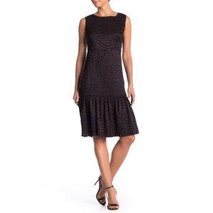 MELLODAY  Smocked Ruffle Hem Animal Printed Dress